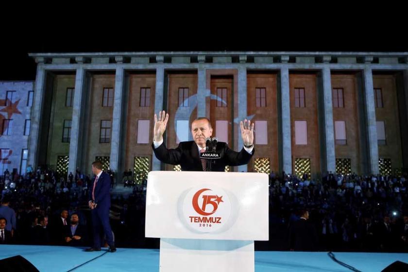 Erdoğan konuşurken 'Drone' düştü: 7 yaralı