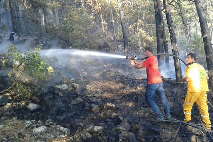 Orhaneli'de 5 hektar ormanlık alan yandı