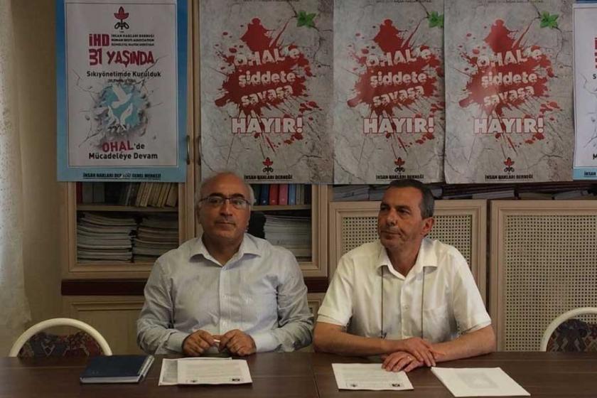 TİHV-İHD: OHAL'le yaşanan ihlallerin belgelenmesi engellendi