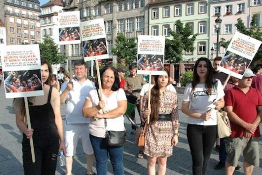 Strasbourg'da Gülmen ve Özakça için dayanışma eylemi yapıldı
