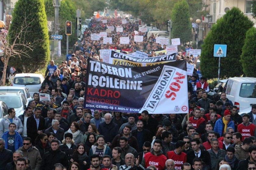 Kadro sözü ile kandırılan taşeron işçiler, hükümete tepkili