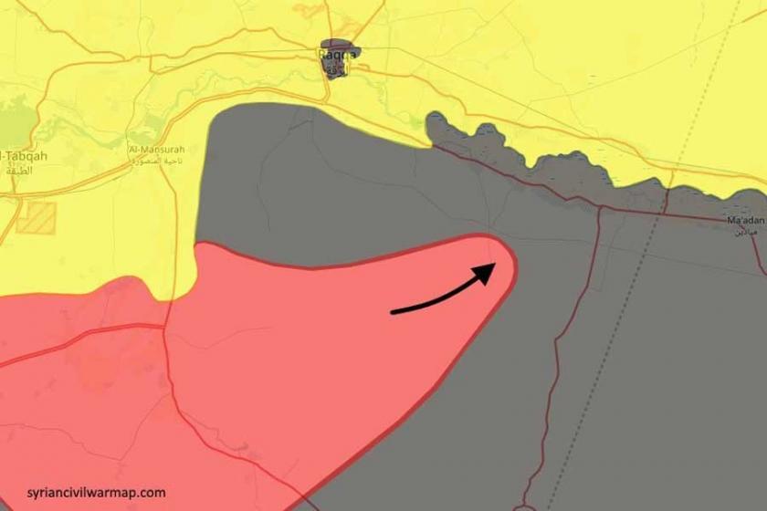 Suriye ordusu, Rakka'nın güneyinde Fırat kıyısına yaklaştı