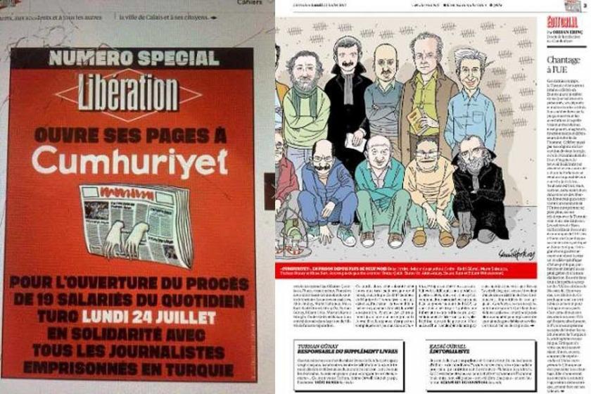 Fransız Libération'da 6 tam sayfa Cumhuriyet