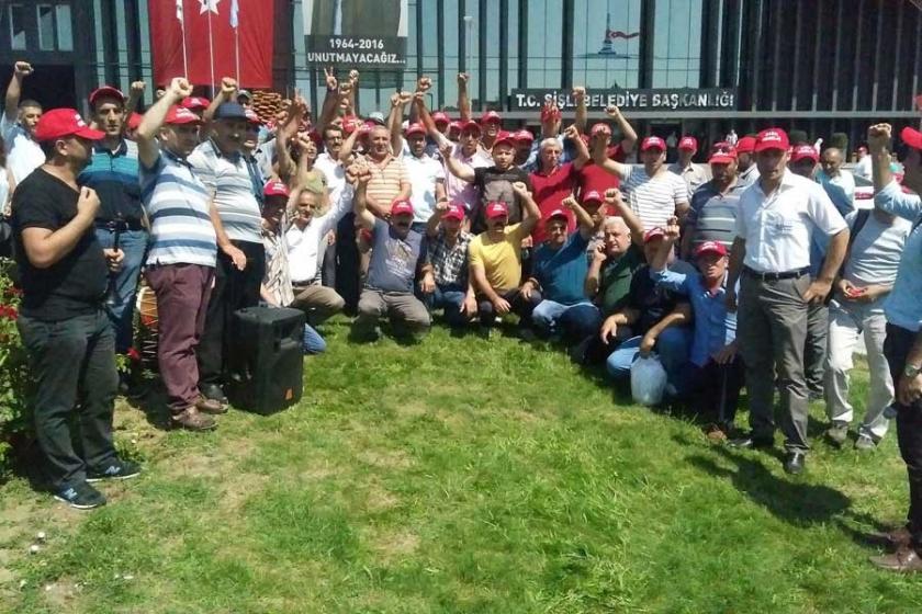 Şişli Belediyesi işçileri iş bıraktı