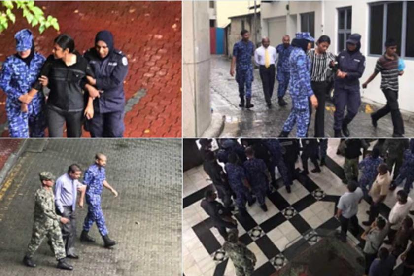 Maldivler devlet başkanı parlamentonun kapısına kilit vurdu