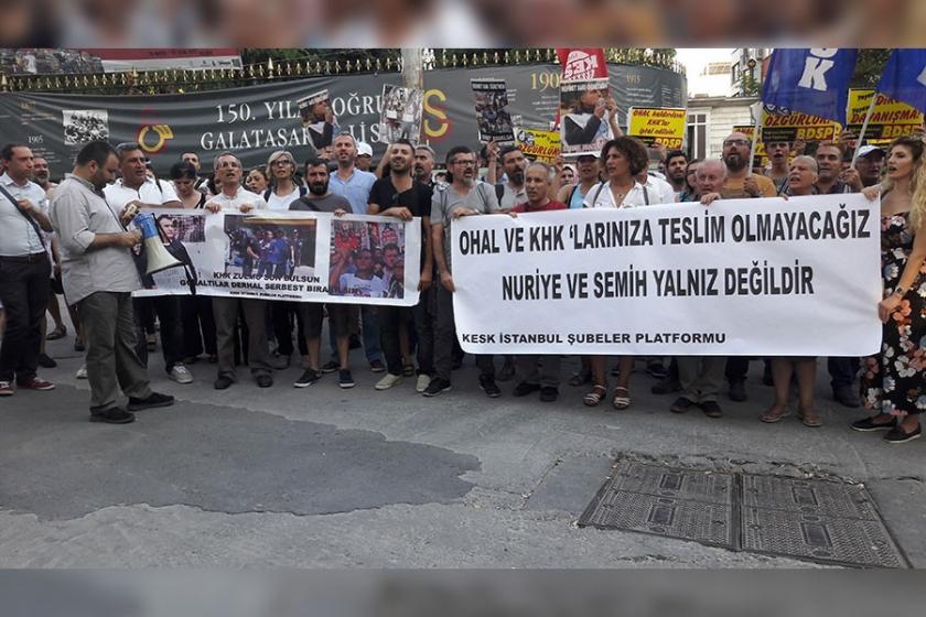 KESK, Ankara'da yaşanan polis saldırısını protesto etti