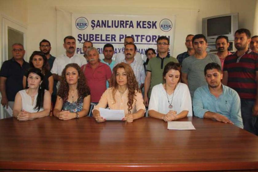 Urfa'da KESK'liler OHAL Komisyonu'na toplu başvuru yaptı