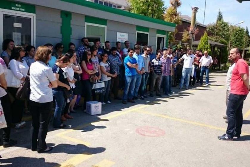 Çiğli Schneider işçileri: Filistin'e saldırılar son bulsun