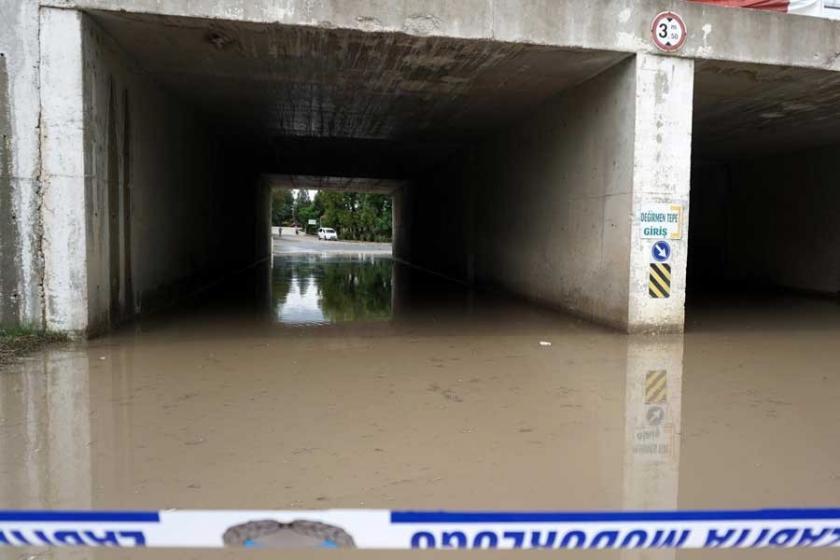 Keşan'da sağanak sonrası su baskını uyarısı
