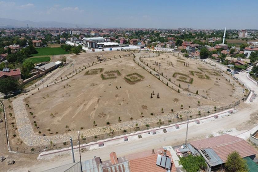 Tarihi höyüğü park yaptılar