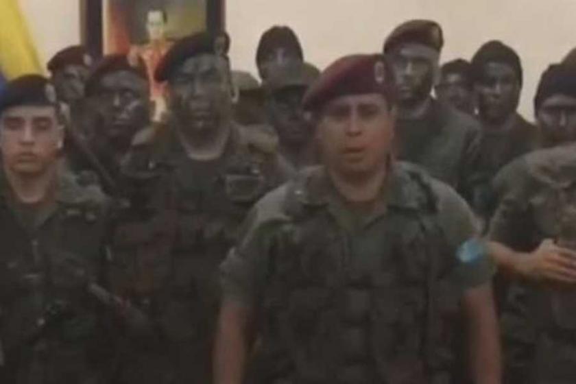 Venezuela'da 'darbe girişimi': Askerler gözaltında