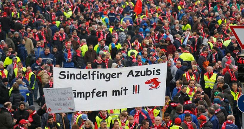 Almanya'da 70 bin metal işçisi uyardı