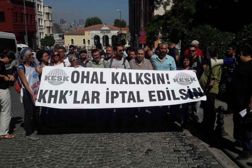 KHK ile ihraç edilen emekçiler OHAL komisyonuna başvurdu