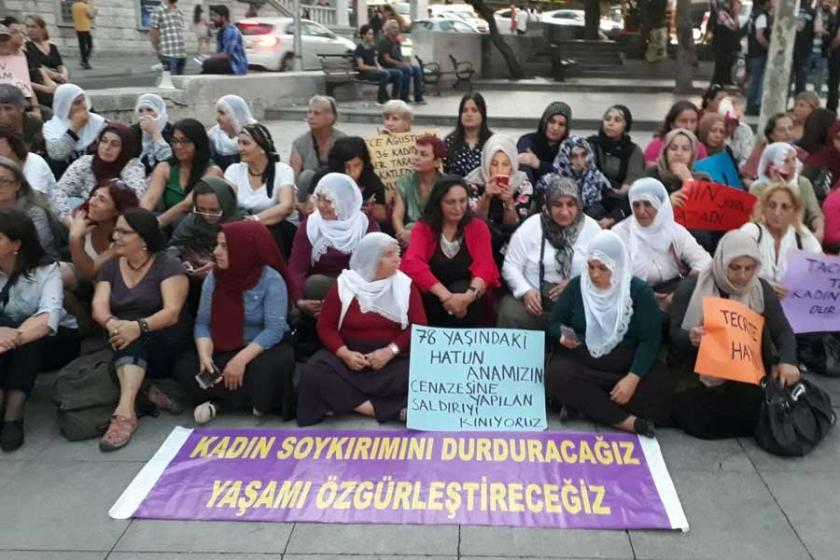 HDP'li kadınlardan kadın cinayetler eylemi