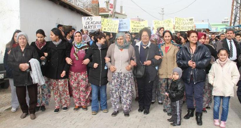 Köylülerden taş ocağı protestosu