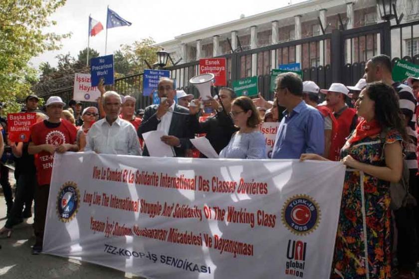 Tez-Koop-İş'ten Fransız işçilerin direnişine destek