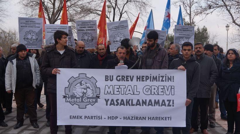 'Metal grevi değil AKP'nin politikaları tehdit'