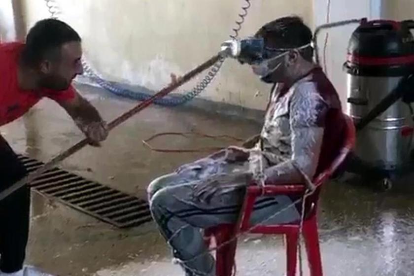Çalışanı basınçlı sulu yıkama görüntülerine soruşturma