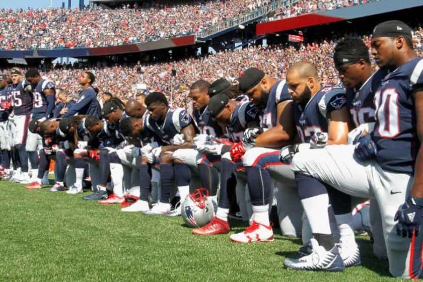 NFL'de Trump'a karşı tarihi dayanışma