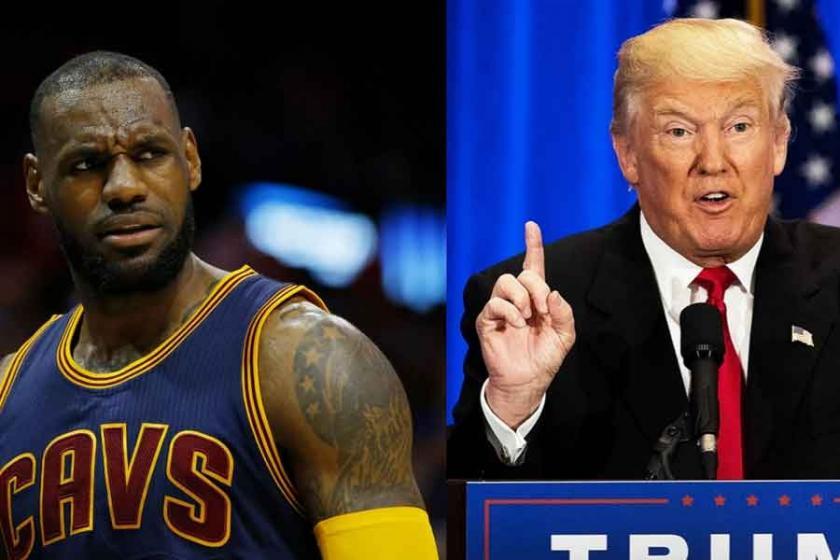 LeBron James, Donald Trump'ı solladı