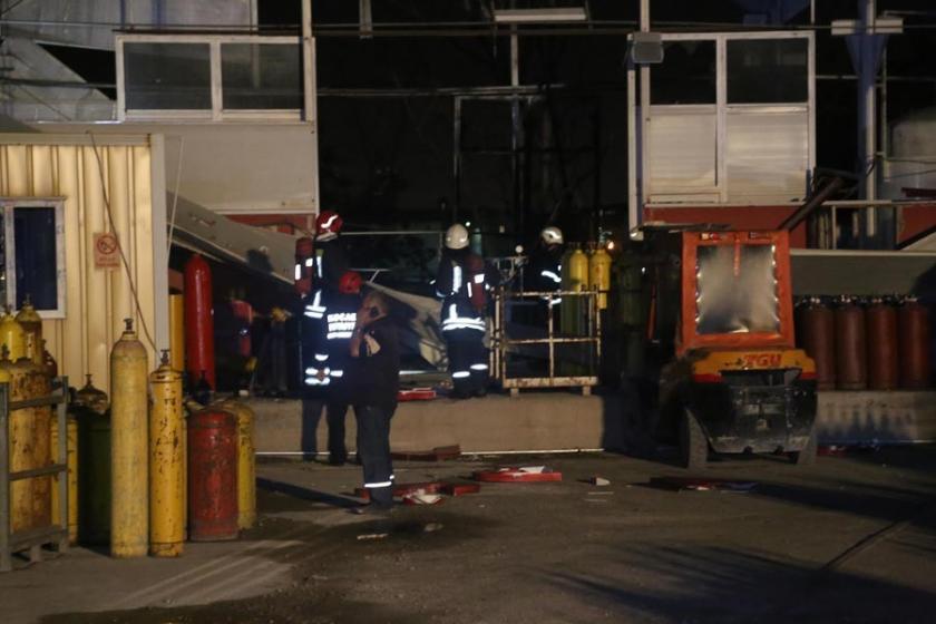 Kocaeli'de gaz dolum tesisinde patlama: 1 yaralı