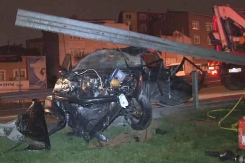 TEM bağlantı yolunda kaza: 2 yaralı
