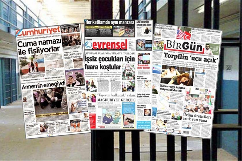 Bursa H Tipi Cezaevi'nde Evrensel, Cumhuriyet, BirGün yasak