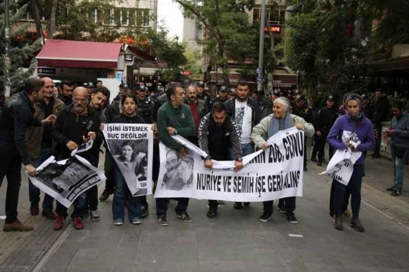 'İşimizi geri istiyoruz' eylemine yine polis saldırısı