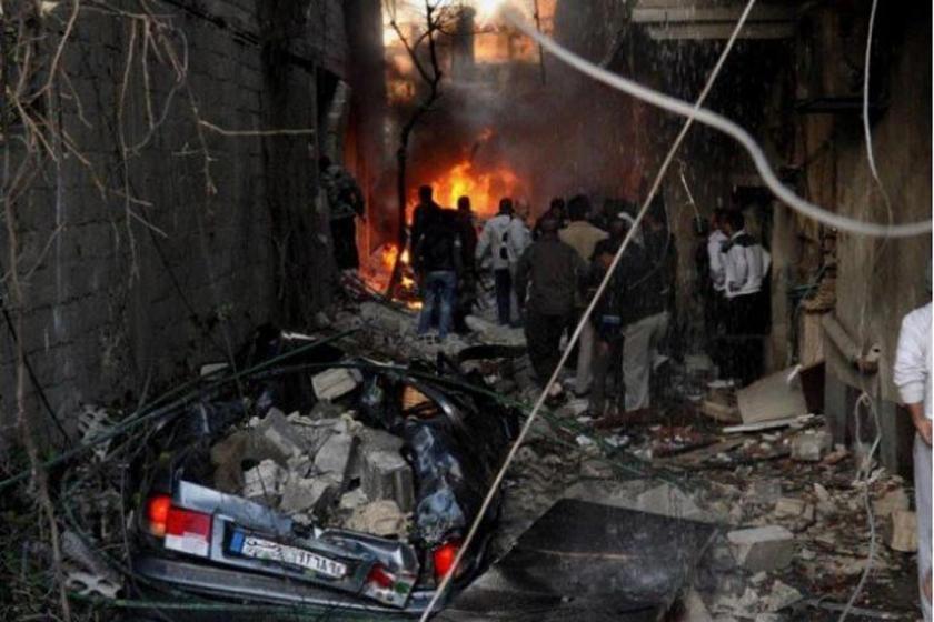 Şam'da patlama: 5'i polis 15 ölü