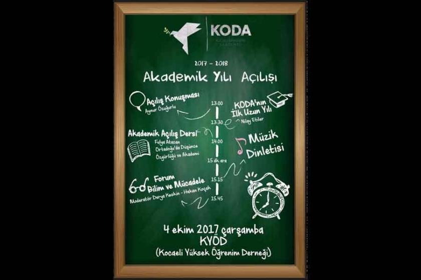 KODA akademik yılı açılışını gerçekleştirecek