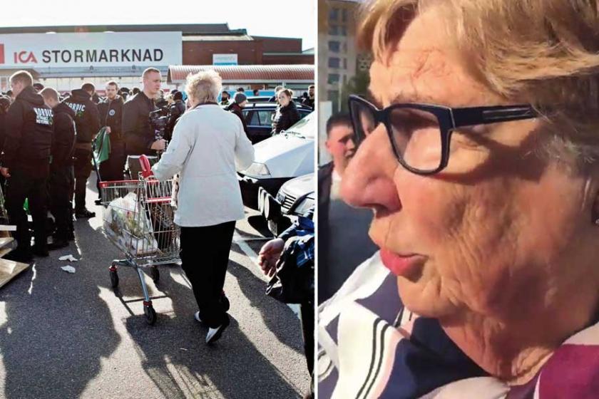 Nazilere alışveriş arabası süren kadın kahraman ilan edildi