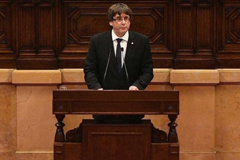 İspanya'nın görevden aldığı Katalan lider Brüksel'de