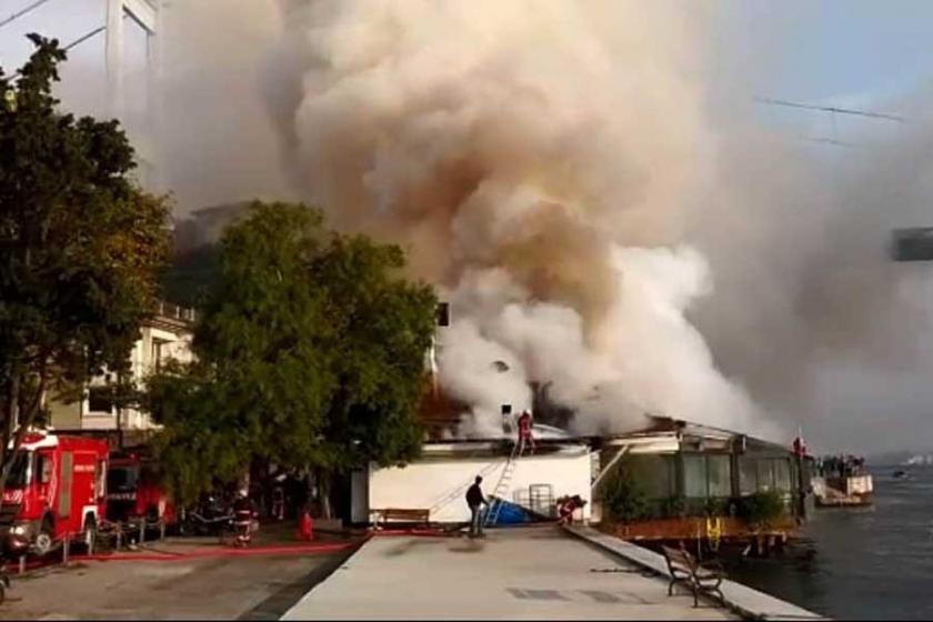 Rumeli Hisarı'da restoranda yangın