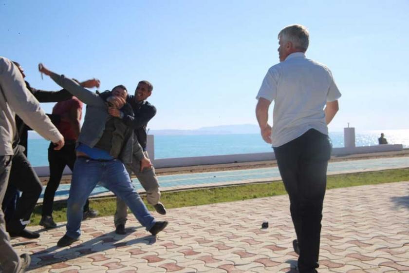 Gazeteci İdris Yılmaz'ın darp anının fotoğrafları