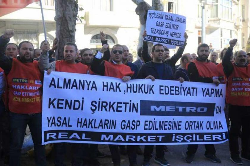 Real Market işçilerinden Alman Konsolosluğu önünde eylem