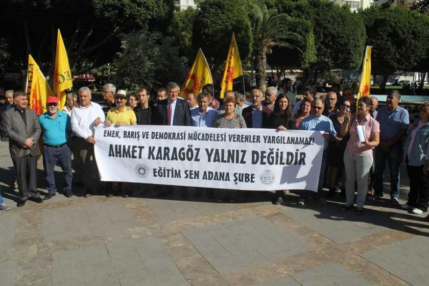 Adana'da Eğitim Sen eski Genel Başkanı hakim karşısında