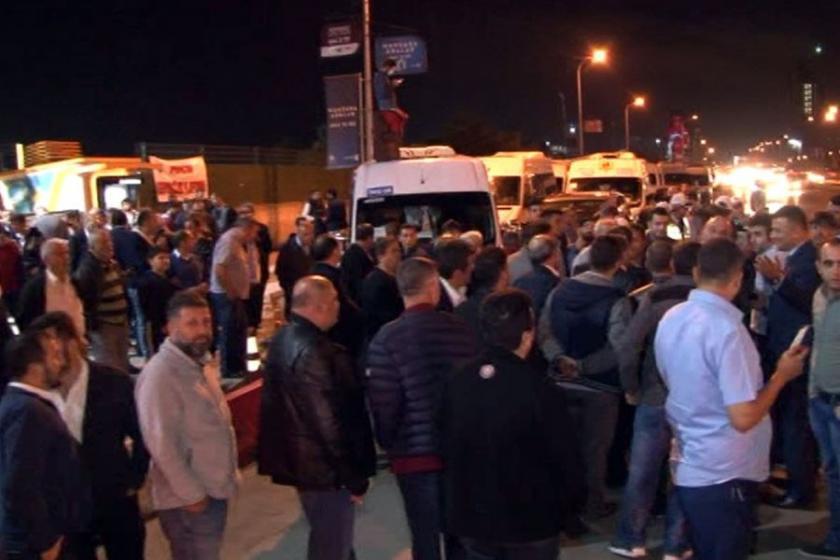 İstanbul'da servisçilerden 'tek tip sözleşme' eylemi