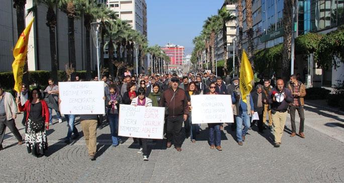 Alevi yurttaşlara yönelik hak ihlalleri protesto edildi