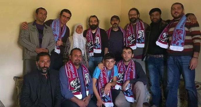 Trabzonsporlular Kobanê'de yaşamını yitiren Güven'i andı