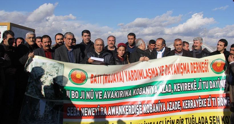 'Kobanê'nin inşası için bir taş da sen koy' kampanyası başlatıldı