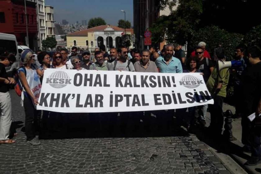 KESK'ten 'OHAL değil demokrasi' mitingine çağrı