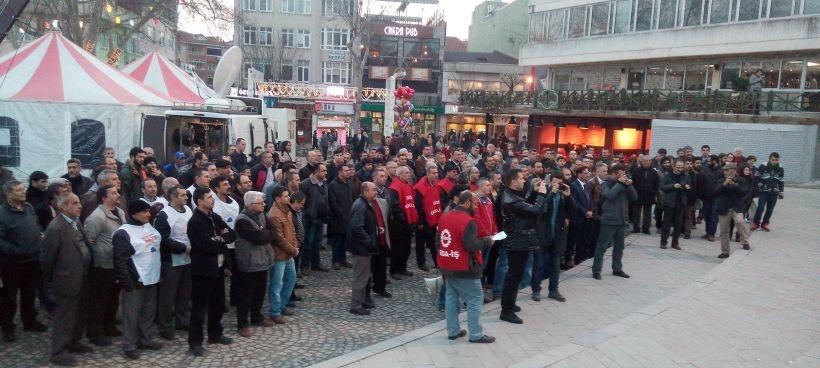 Grev yasağı Lüleburgaz'da protesto edildi