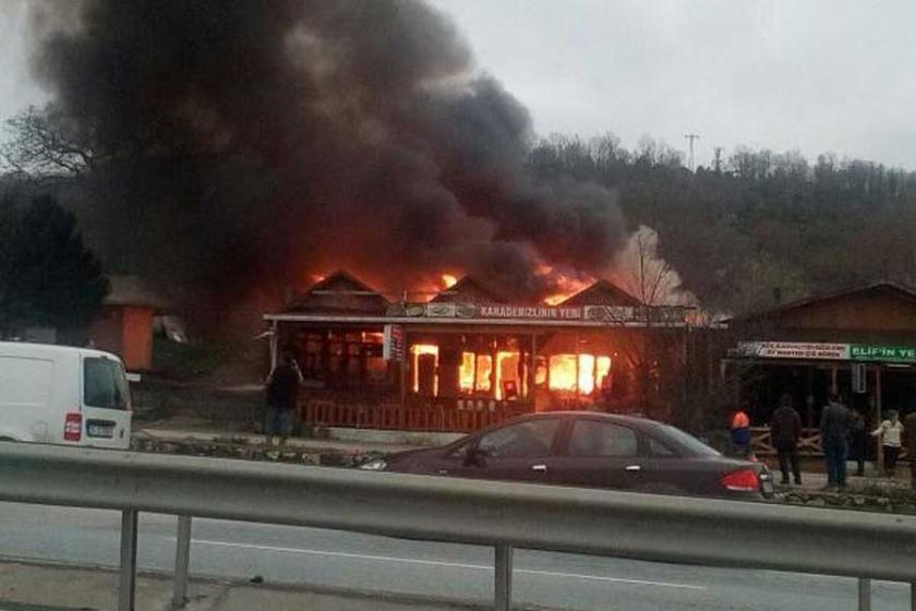 Şile Yolu'ndaki gözlemecilerde korkutan yangın