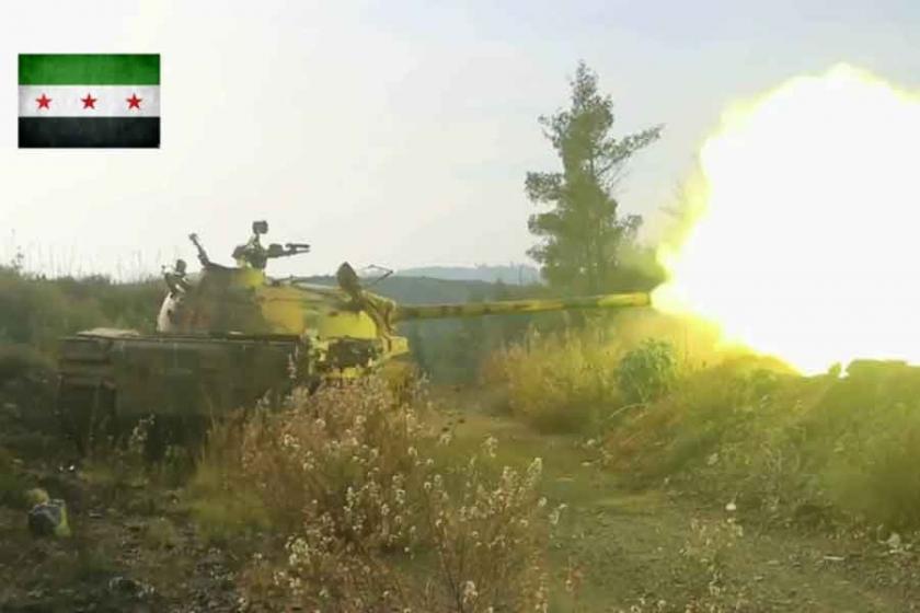 Lazkiye'de cihatçılardan tanklı saldırı