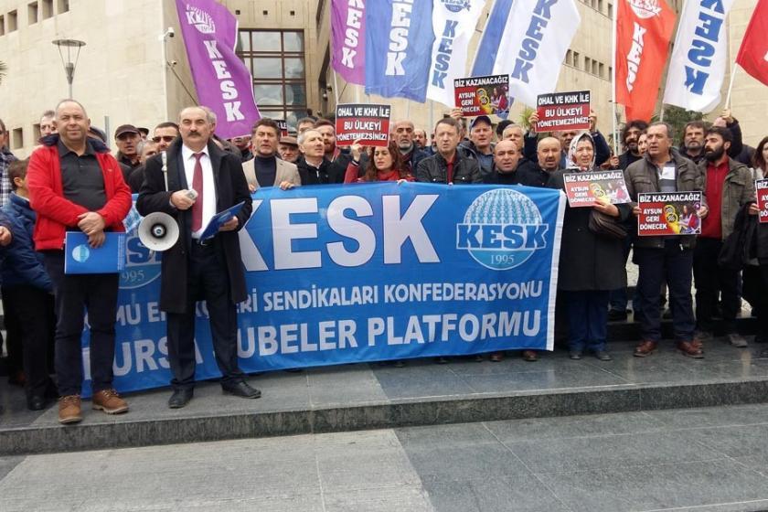 KESK Bursa: OHAL ve KHK'lere karşı ortak mücadele etmeliyiz