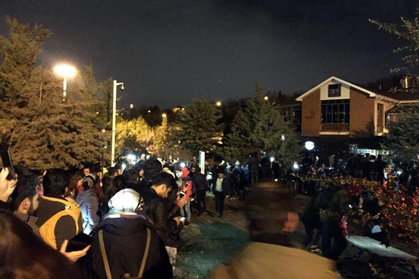 Hacettepe Üniversitesi öğrencilerinden BAM protestosu
