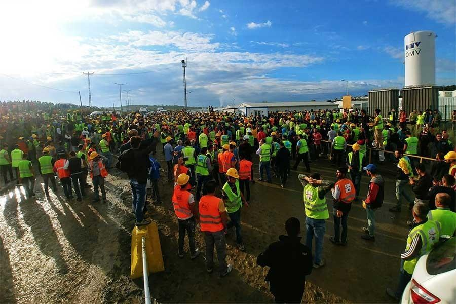 British trade unionists urge Turkish government to release construction workers
