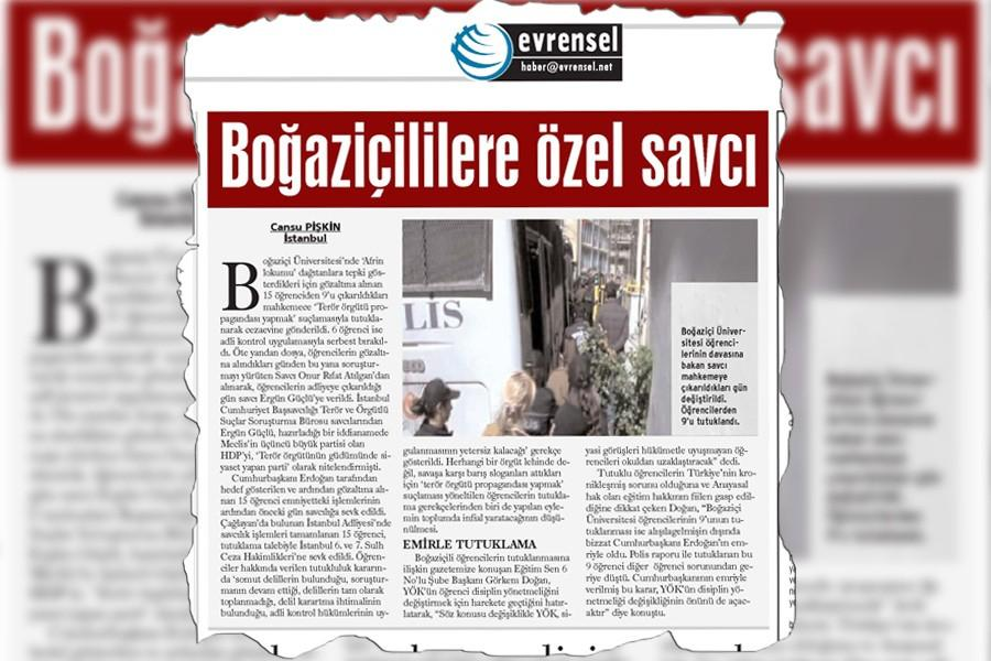 Naming a prosecutor brings 'terrorism' charge to Evrensel reporter Cansu Pişkin