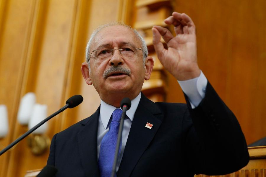 CHP Chair Kemal Kılıçdaroğlu, speaking at the weekly group meeting in the Parliament.