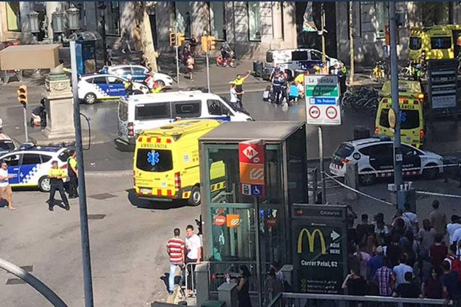 Barcelona van attack: At least 13 dead, 100 injured